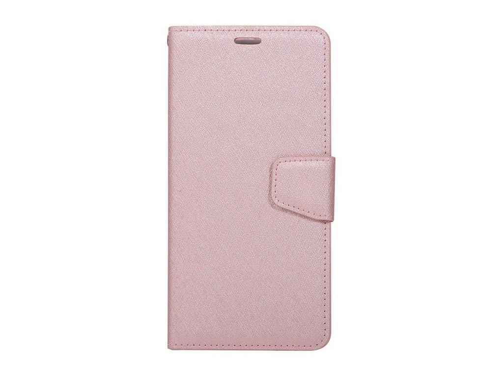Puzdro Samsung Galaxy J4 Plus (2018) knižkové ružovozlaté