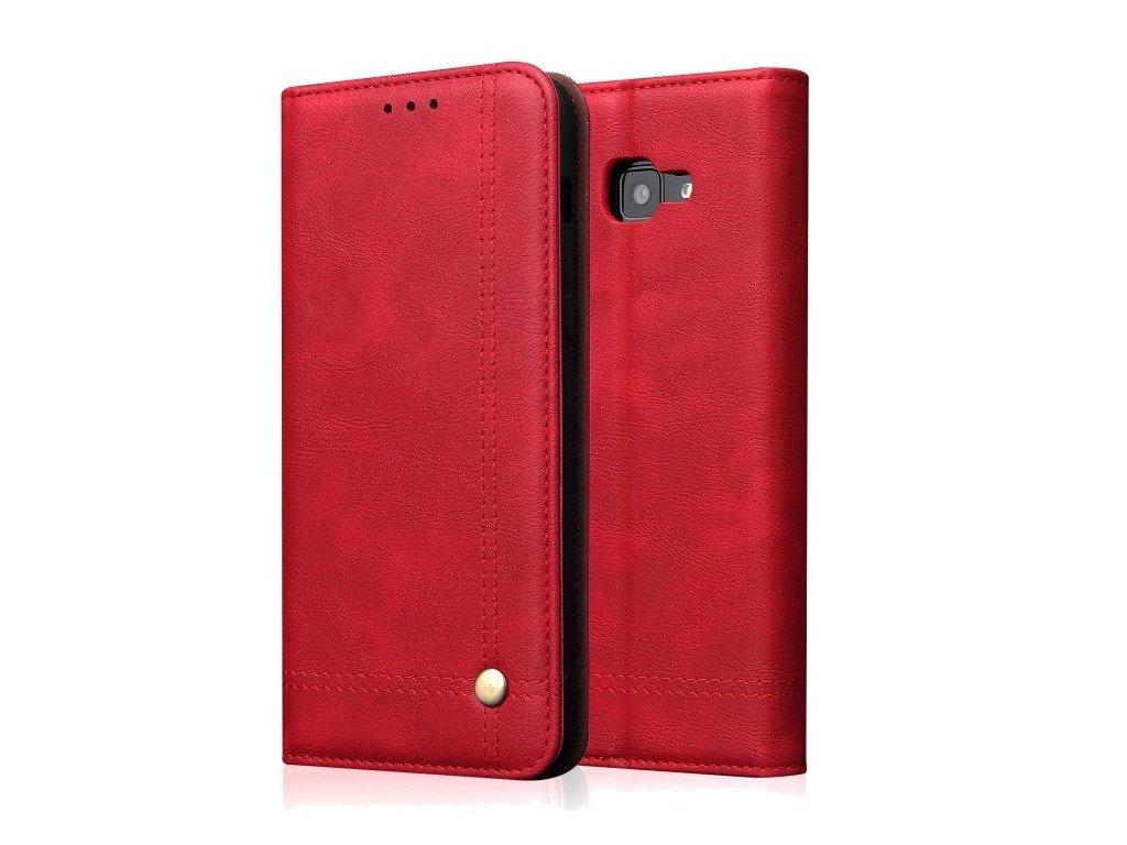 """Knižkové puzdro Samsung Galaxy J4 plus """"Fashion Case"""" červená farba"""