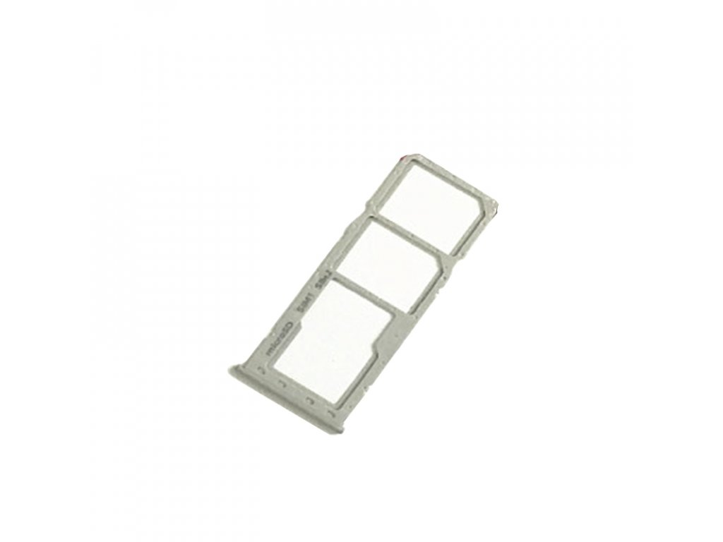 Držiak SIM karty a pamäťovej karty Samsung A20 / A30 / A50 / A70 biely