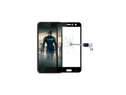 2.5D 9H ochranné tvrdené sklo HTC U11 čierna farba