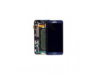 LCD displej a dotyková plocha s rámom S6 edge plus modrá farba
