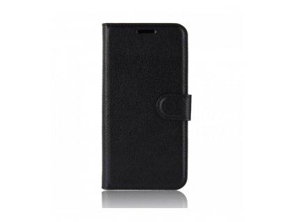 Knižkové puzdro Alcatel 1X Litchi textúra čierna farba