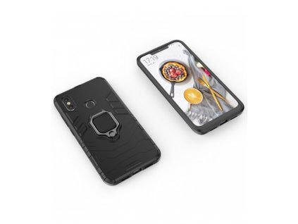 Ochranné puzdro Xiaomi Redmi Note 5 Armor čierne so stojanom
