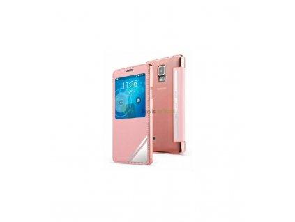 Púzdro Samsung Galaxy Note 4 Viva Window ružové