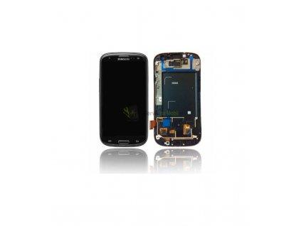 LCD displej a dotyková plocha s rámom Samsung S3 i9300 - čierna farba