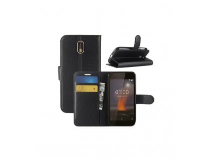 Puzdro Nokia 1 knižkové čierne