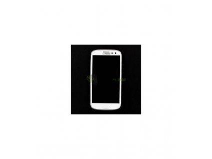 LCD Displej a dotykova plocha so sklíčkom a rámom Samsung Galaxy i9301 S3 NEO biela farba