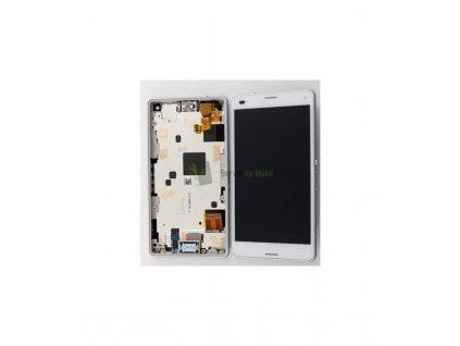LCD displej a dotyková plocha s rámom vhodný pre Sony Xperia Z3 compact D5803 HIGH OEM biela farba