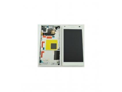 LCD displej a dotyková plocha s rámom Sony Xperia Z5 Compact E5823 biely
