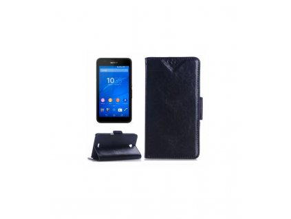 Knižkové púzdro Sony Xperia E4 - tmavomodré