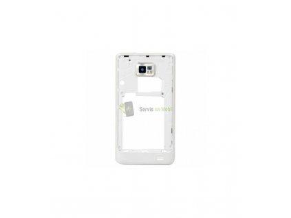 Stredový rám so sklíčkom fotoaparátu Samsung Galaxy S2 i9100 biela farba