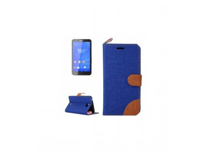 Knižkové púzdro Sony Xperia E4 - tmavá modrá farba
