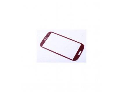 Sklo Samsung Galaxy S3 mini i8190 - červená farba