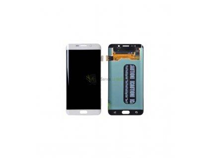 LCD displej a dotyková plocha s rámom Samsung Galaxy S6 Edge G925 - biela farba