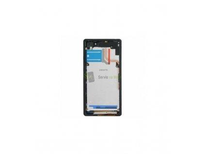 LCD displej a dotyková plocha s rámom vhodné pre Sony Xperia Z2 OEM čiena farba