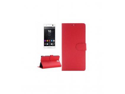 Puzdro Sony Xperia C5 Ultra knižkové červené