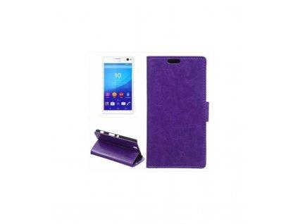 Knižkove puzdro na Sony Xperia C4 fialové