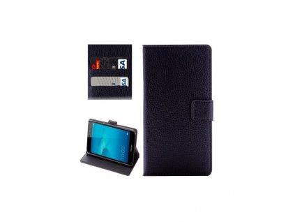 Puzdro Huawei Honor 7 Lite knižkové čierne