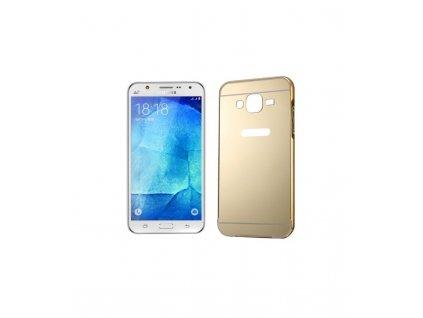 Puzdro s kovovým rámikom a akrylovým zadným krytom Samsung Galaxy J5 J500 zlaté
