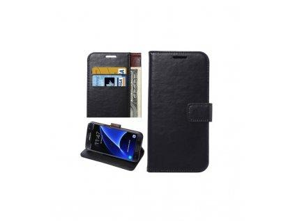 Puzdro Samsung Galaxy S7 Edge knižkové čierne