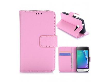Puzdro Samsung Galaxy J1 mini knižkové ružové