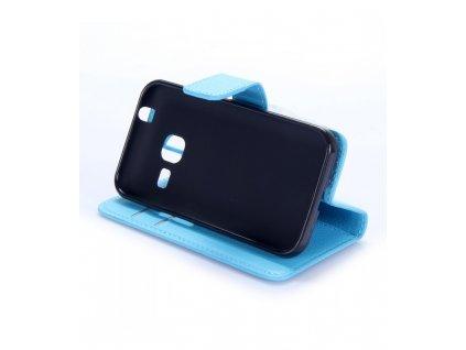 Puzdro Samsung Galaxy J1 mini knižkové modré