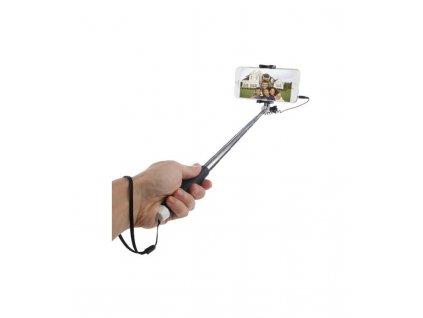 Selfie tyč HAWEEL s pripojením na 3,5mm jack 71cm dlhá čierna