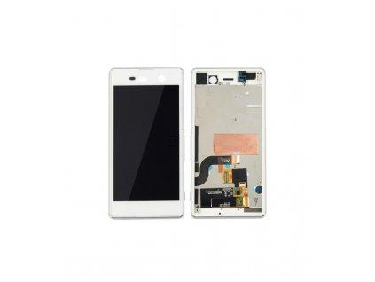 LCD displej a dotyková plocha s rámom Sony Xperia M5 biela farba