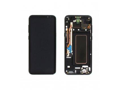 LCD displej Samsung S8 Plus G955F a dotyk s rámom čierny