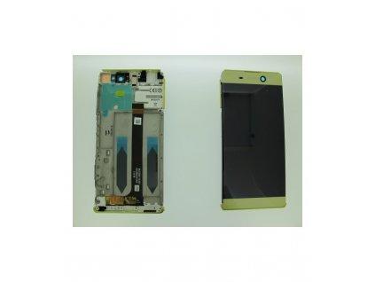 LCD displej a dotyková plocha s rámom Sony Xperia XA Ultra, F3211 zlatá farba