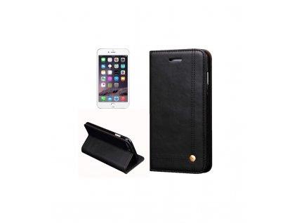 Knižkové púzdro iPhone 7, iPhone 8 čierna farba