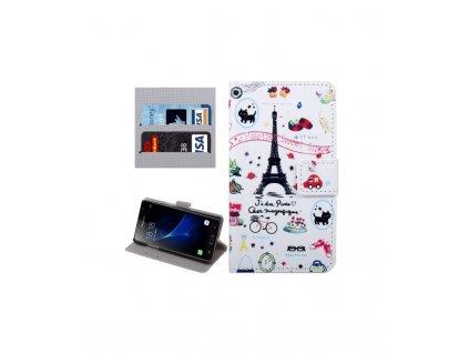 Knižkové puzdro Samsung Galaxy J3 Pro / J311 s motívom Paris