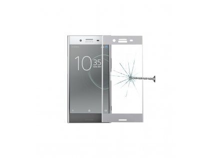 0.3mm 9H 3D Ochranné tvrdené sklo Sony Xperia XZ premium sivá farba