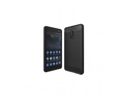 Puzdro Nokia 6 karbonová textúra čierne