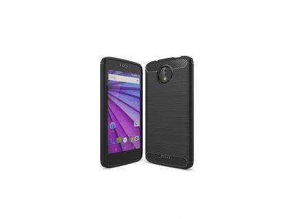 Puzdro Motorola Moto C Plus karbonová textúra čierne