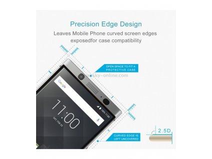 0.3mm 2.5D 9H Ochranné tvrdené sklo BlackBerry Keyone čierna farba