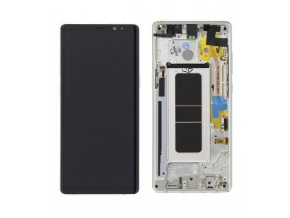 LCD displej a dotyková plocha s rámom Samsung Galaxy Note 8 zlatá farba