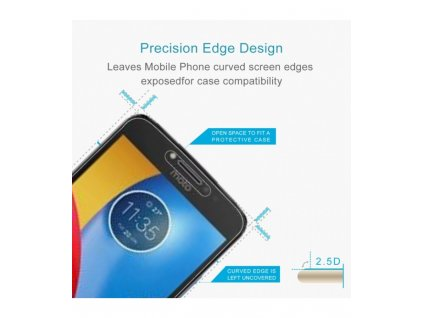 0,3mm 2.5D 9H Ochranné tvrdené sklo Motorola Moto C