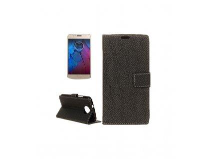 Knižkové puzdro Motorola Moto G6 Plus/ G5s Plus čierna farba