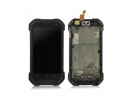 LCD Displej a dotyková plocha s rámom Blackview BV6000 / Aligator RX500 čierna farba
