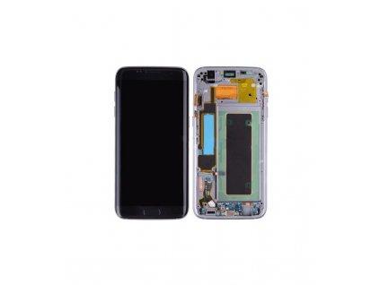 LCD Displej + Dotykové sklo + Rám Samsung Galaxy S7 Edge OEM čierna farba