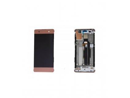 LCD displej a dotyková plocha s rámom Sony Xperia XA, F3111 ružová farba