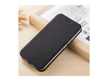 Elegantné knižkové puzdro Motorola Moto X4 čierna farba