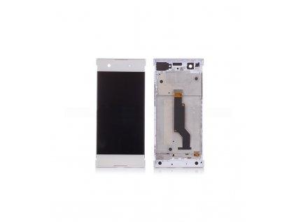LCD displej a dotyková plocha s rámom Sony Xperia XA1, G3121 biela farba