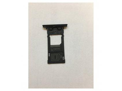 Držiak SIM karty a pamäťovej karty Sony Xperia XZ2 compact čierna farba