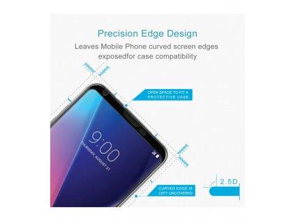 0.26mm 9H 3D Ochranné tvrdené sklo LG V30 (2017) čierna farba
