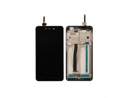 LCD Displej + Dotykové sklo Xiaomi Redmi 4A s rámom čierna farba