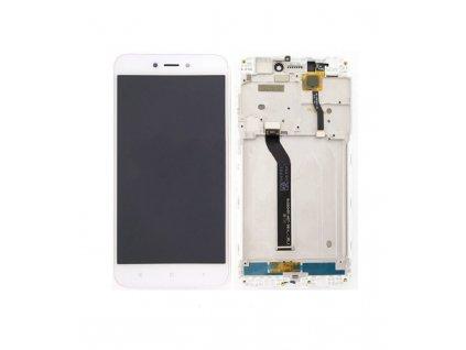 LCD displej a dotyková plocha s rámom Xiaomi Redmi 5A biely