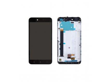 LCD displej a dotyková plocha s rámom Xiaomi Redmi Note 5A MDG6 čierna farba
