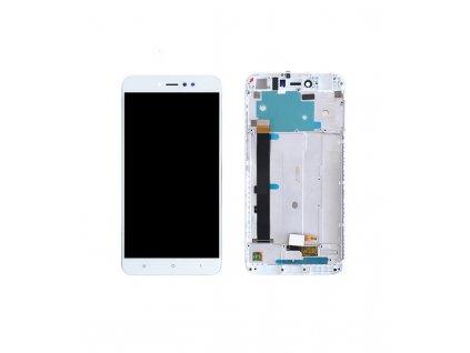 LCD Displej + Dotykové sklo Xiaomi Redmi Note 5A Prime Biela farba s rámom
